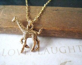 LEGGS giraffe charm necklace (gold or silver)