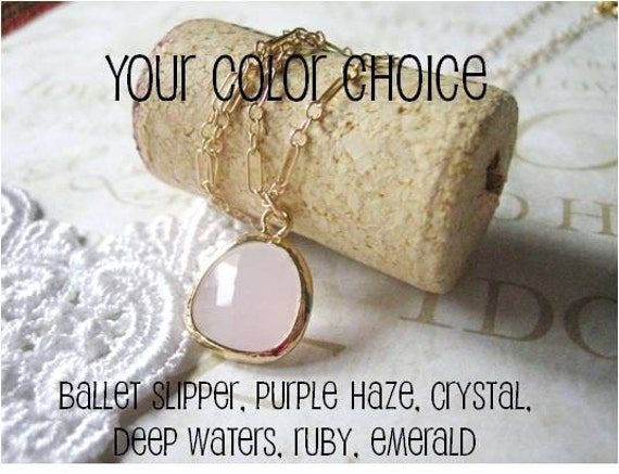 ANABELLE your color choice ballet pink ruby emerald clear purple haze deep waters
