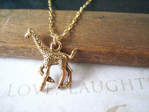 LEGGS giraffe charm necklace (gold or silver)