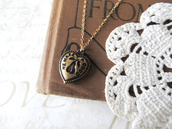 the perfect PEAR necklace (antiqued gold) - LAST ONE