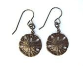 Sanddollar Earrings Vintaj Brass Charms Brass Beach Jewelry by HendysHome