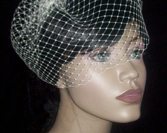 Birdcage Veil - Beautiful 9 inch Russian Face Veil