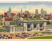 Vintage Postcard Kansas City, MO  Union Station