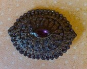 SALE save 10.00 was 48.00 now 38.00 Vintage purple rhinestone brooch