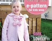 Reversible Lovely Ribbon Jacket PDF Patterns and Instruction ((12 months upto age 6))