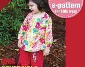 Reversible Tunic Top Vs. Dress (12 months upto age 6) PDF patterns