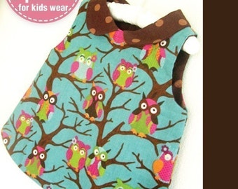 Cute Little Girls Vest (12 months upto age 6) PDF patterns -  back bottom closer , rounded collar