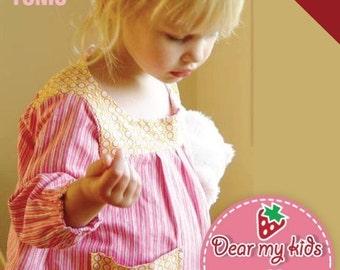 Reversible Tunic Top Vs. Dress (12 months to age 6)PDF patterns