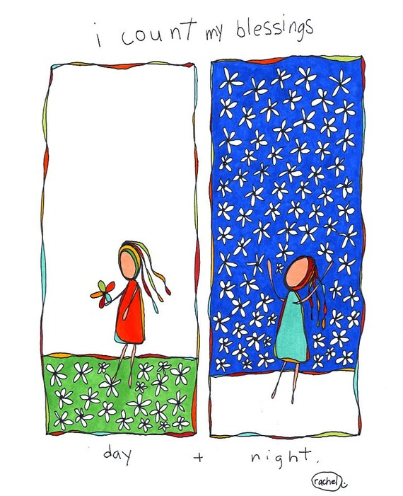 day and night. colorful print. rachel awes