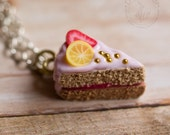 SALE - Baby Pink Cake - Pendant or Charm - Miniature Food Jewelry