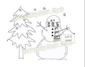 Snowman Digital Stamp Set, PNG Clip Art, Set of 3 Digi Stamps, Christmas Card Making, Scrapbooking, DIY Printable, Tags, Instant Download