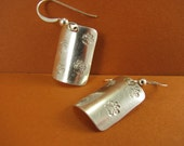 Silver Paw Prints Earrings