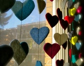 Reclaimed Felt Heart Garland - Ecofriendly - Recycled