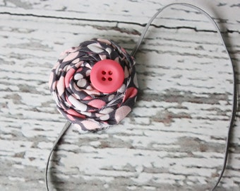 Simple Summer Days--single rosette headband