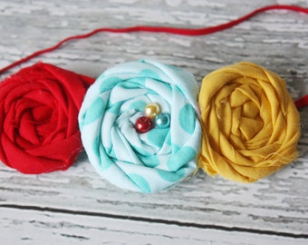 Gumball Machine- triple rosette headband