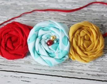 Gumball Machine- triple rosette headband