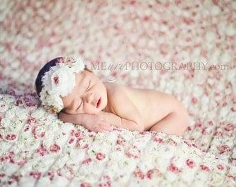 Spring Garden- chiffon flower headband