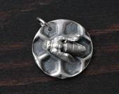 Sweet Silver Honeybee Pendant (Handmade from Reclaimed Fine Silver)