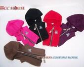 YO-SD Chibi Unoa MSD slim Zipper Hoody Vest in Skull icon