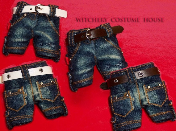 Lati Yellow Puki fee Denim dark blue short pants to refined handmade