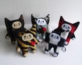 Mini Plush Pattern Kitty - Cat Toy