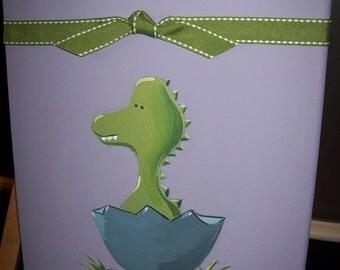 Baby Dinosaur on Periwinkle