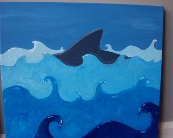 Beach Series, Shark in the Waves