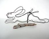Rabbit Wire Sculpture