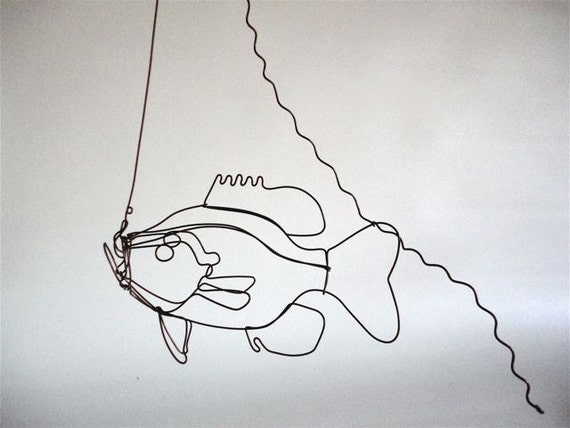 Hanging Sunfish Wire Sculpture