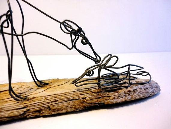 Deer Wire Sculpture- Reserved for Kathy