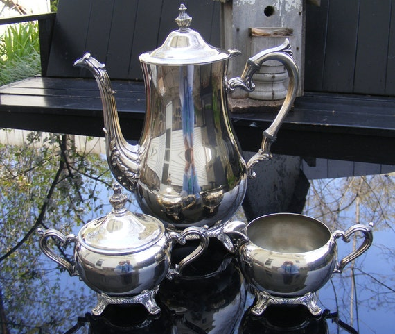 Tea Set or Coffee Set Silver Plate William Rogers