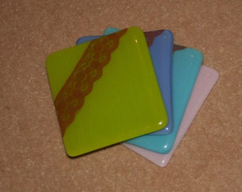 Nottingham Lace Coasters - made to order in any colour