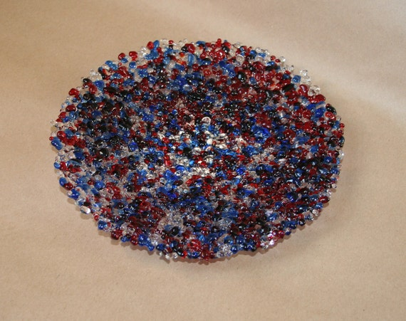 Textured Red White and Blue Bowl - Made to Order