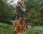 Hemp Organic Cotton Patchwork Skirt MADE TO ORDER