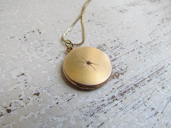 Antique Victorian Locket With Diamond Chip c.1880s