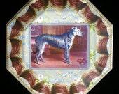 Irish Wolfhound Decoupage Plate