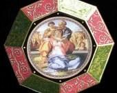 Holy Family Decoupage Christmas Plate