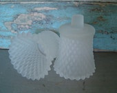 Set of Frosted White Votive Candle Cups Wall Sconce Vintage