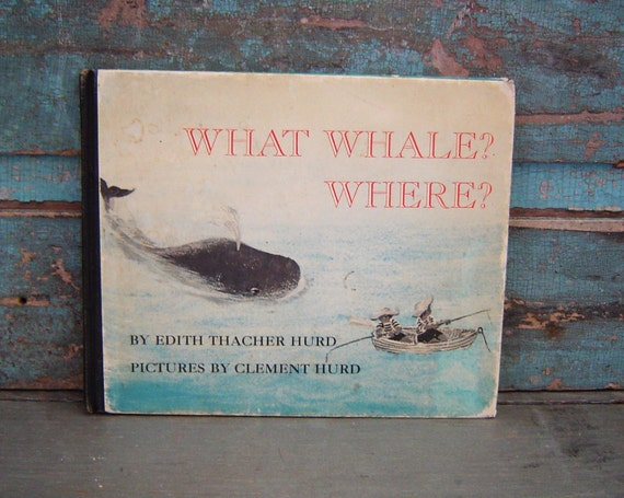 Blue What Whale Where Childrens Book Vintage 1966