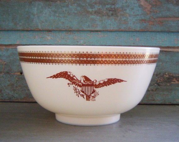 Federal Eagle Pyrex Mixing Bowl Vintage