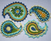 Paisley floral- crochet pattern