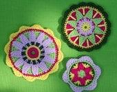Rosettes- Crochet Pattern (Applique)