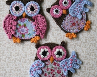 Applique Owl - Crochet Pattern