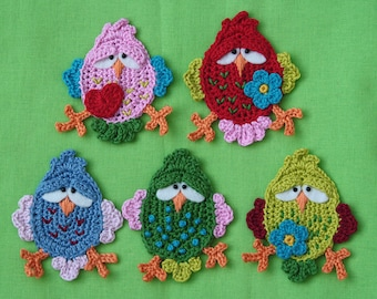 FITSCH, the bird x2 - Bird Crochet Pattern (Applique) PDF