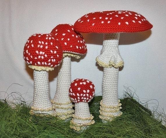 Mushroom - crochet pattern - Toadstool (Fly Agaric)