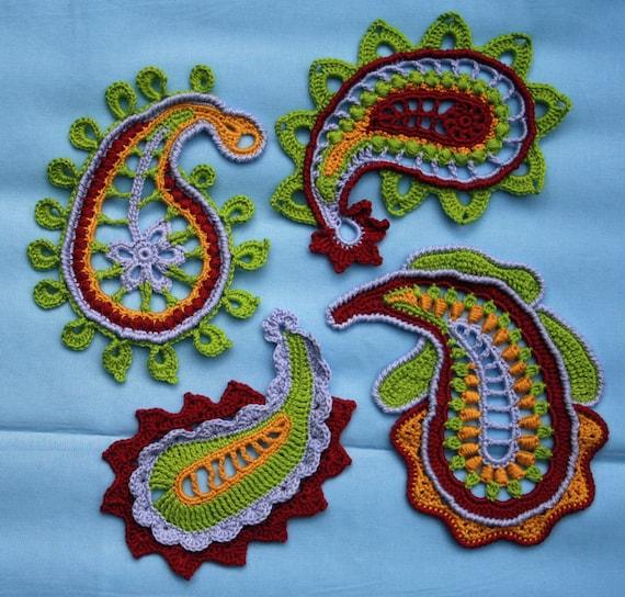Paisley magic- crochet pattern