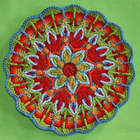Crochet Overlay Mandala  No. 1 Pattern PDF