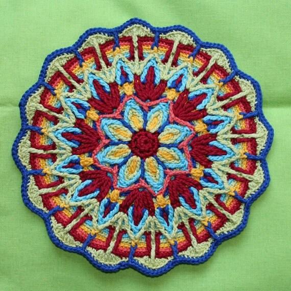 Crochet Patterns Mandala : Mandala No. 1 Overlay Crochet Pattern PDF by CAROcreated