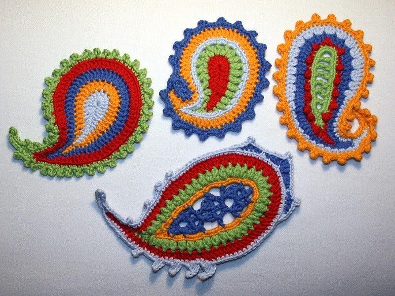 Free Crochet Paisley Motif Pattern : Paisley crochet pattern