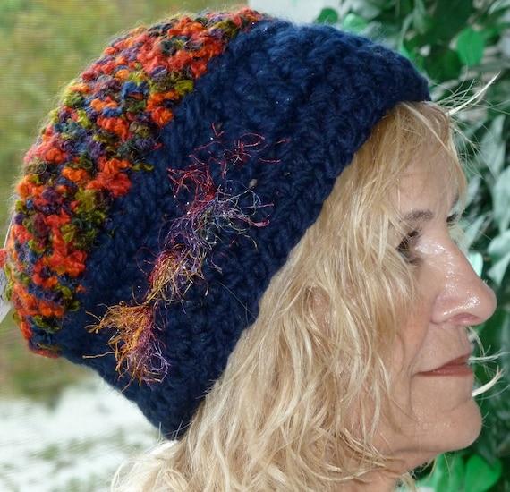 Bohemian Accessories Crochet Hat Women Blue Red